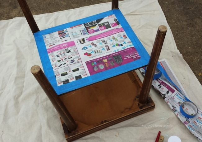 Reloved end table happy heart llc for Table up down extensible