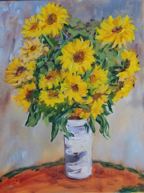 monet-sunflowers