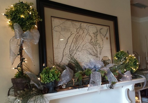 Decor-silver mantel