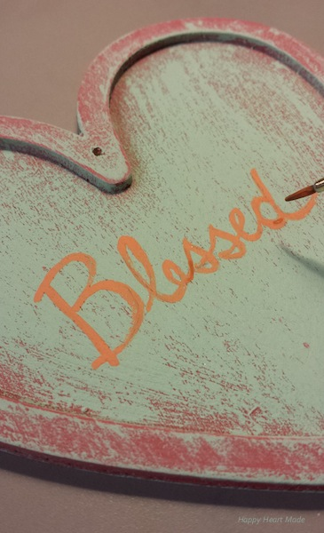 Wooden Heart - Blessed