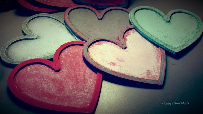 Wooden hearts- vintage
