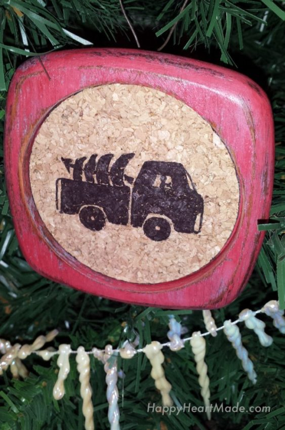 Truck Red Tree