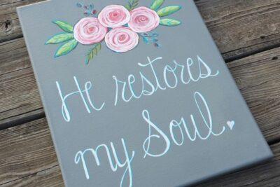 "Ladies Paint Night! – ""He Restores My Soul."""
