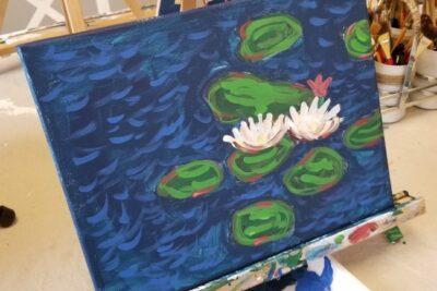 Claude Monet Art Workshop For Kids #artforlittleeyes